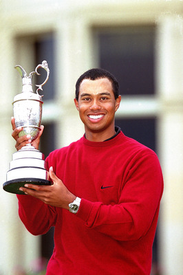 Tiger Woods won the 2000 Open by eight shots