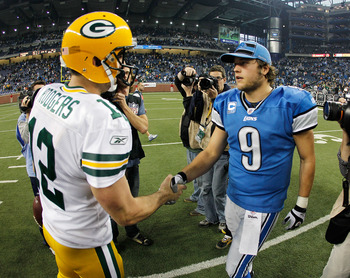Aaron Rodgers (left) and Matthew Stafford (right)