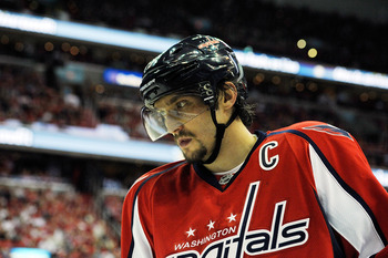 "The ""C"" on his jersey has not set well with Alex Ovechkin"