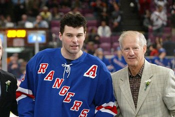 Jean Ratelle (right) was the smoothest of centers for the '72 Rangers.