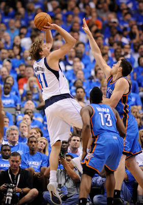 Dirk is roundly considered the league's best shooting big man.