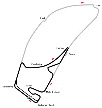 The new circuit in black, the old in grey