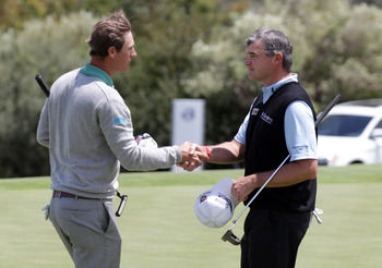 Nicolas Colsaerts and Paul Lawrie