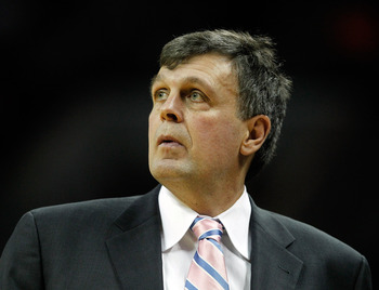 Houston Rockets head coach Kevin McHale