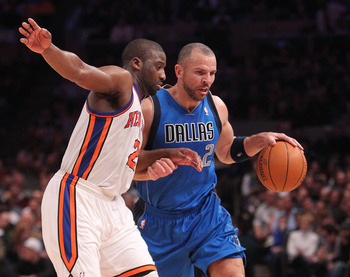 The Knicks' newest point guards, Raymond Felton and Jason Kidd.