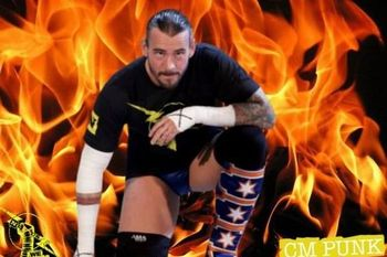 CM Punk, so hot right now. Image by WWE Pictures
