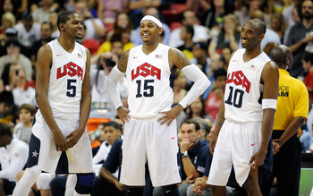 Durant, Anthony and Bryant struggled against Brazil.