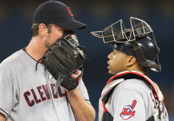 Perhaps better and less muffled communication with Indians catchers will lead to more consistency for Derek Lowe.