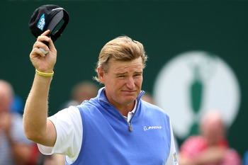 Ernie Els has played well and is in 10th place after 36 holes