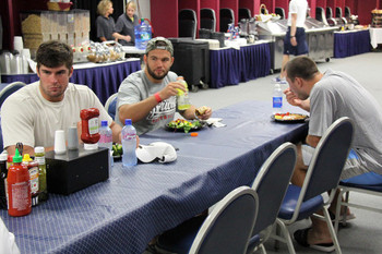 New England's rookies are hungry at training camp. Photo courtesy of the Patriots official Twitter account.