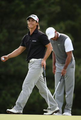Thorbjorn Olesen was paired with Tiger on Saturday