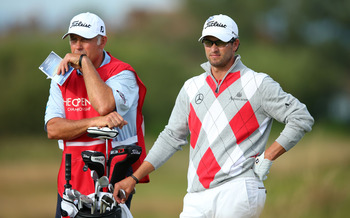 Adam Scott with Steve Williams on the bag has a four shot lead