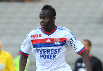 LYON, FRANCE - AUGUST 13:  Aly Cissokho of Olympique Lyonnais in action during the Ligue 1 match between Olympique Lyonnais and AC Ajaccio at Gerland Stadium on August 13, 2011 in Lyon, France.  (Photo by Valerio Pennicino/Getty Images)