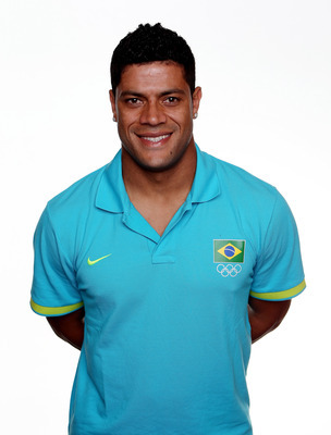ST ALBANS, ENGLAND - JULY 22:  Hulk poses during the Brazil Men's Official Olympic Football Team portrait session on July 22, 2012 in St Albans, England.  (Photo by Scott Heavey/Getty Images)
