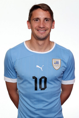 MANCHESTER, ENGLAND - JULY 22:  Gaston Ramirez of Uruguay poses during a portrait session on July 22, 2012 in Manchester, England.  (Photo by Julian Finney/Getty Images)