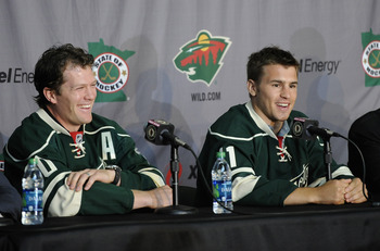 Ryan Suter (left) and Zach Parise signed with the Minnesota Wild on July 4, making the team an instant playoff contender.
