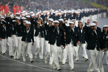 Team USA during the 2008 Beijing Parade of Nations