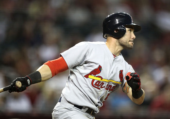 Skip Schumaker has been on a tear and may be laying claim to full-time duties at second base.