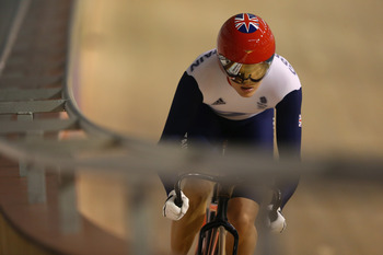 Great Britain's Victoria Pendleton set an Olympic sprint record in Beijing.