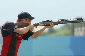 American Walton Eller set a double trap Olympic record in 2008.