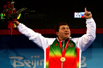 Andrei Aramnau, of Belarus, dominated in the 105-kilogram weight class during the 2008 Games.