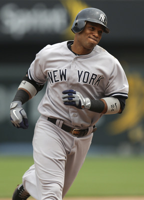 Robinson Cano rounds the bases following his grand slam against the Kansas City Royals on Sunday May 6th