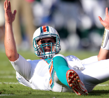 Can Matt Moore emerge victorious from the QB battle even with the odds against him?