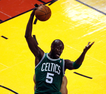 Kevin Garnett's game took-off while playing center in the 2012 NBA Playoffs.