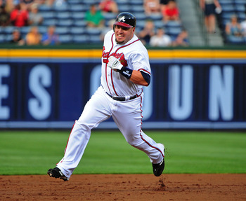 Eric Hinske has been solid in his role as utility player for the Atlanta Braves in the past—not so much in 2012.
