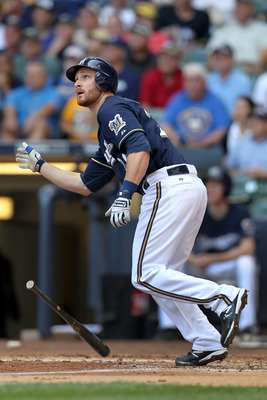 Brewers catcher Jonthan Lucroy needs to stay away from suitcases for the rest of the season.