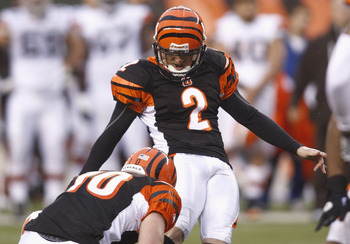 Mike Nugent has been solid in his first two seasons in Cincinnati.
