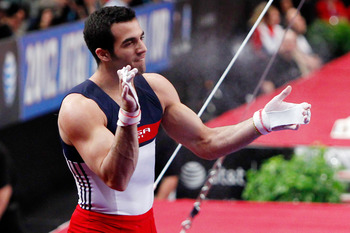 Leyva, a threat for an all-around medal, is the clear leader on the high bar