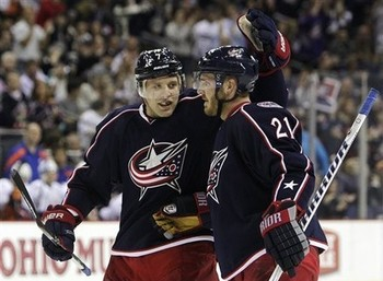 Jack Johnson (left) and James Wisniewski (right) will have to step up huge for the Blue Jackets this Season