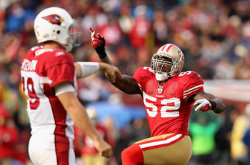 Patrick Willis lead the 49ers to a NFL-best turnover margin in 2011.