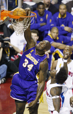 When Shaquille O'Neal was with the Lakers, he was one of the most dominant forces to ever play the game