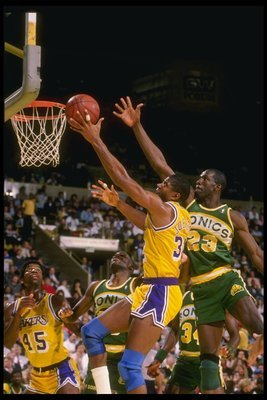 The greatest point guard to play in the NBA: Magic Johnson