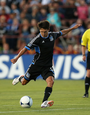 SANTA CLARA, CA - JULY 14:  Chris Wondolowski #8 of the San Jose Earthquakes in action against Real Salt Lake at Buck Shaw Stadium on July 14, 2012 in Santa Clara, California.  (Photo by Ezra Shaw/Getty Images)