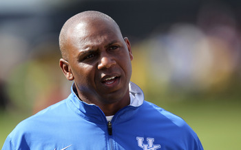 Kentucky head coach Joker Phillips