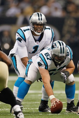 Ryan Kalil (67) is where it all begins for the Panthers' offensive line.