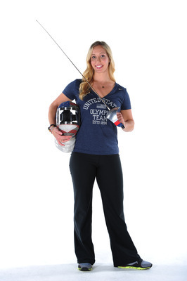 Mariel Zagunis is the two-time defending Olympic gold medalist in the Sabre group.