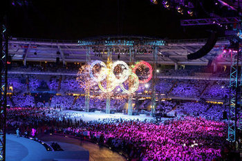 Scene from 2008 Opening Ceremony in Beijing