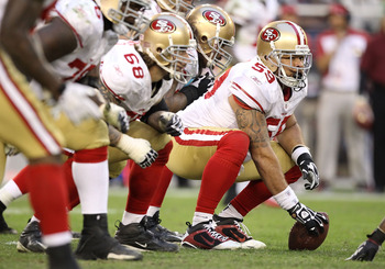 Jonathan Goodwin is back at center for the 49ers.