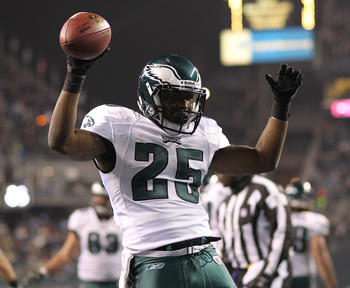 Philadelphia fans saw a lot of this in 2011. McCoy led the NFL in rushing TD's.
