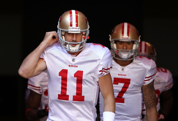 Will Colin Kaepernick (7) again be the backup to starter Alex Smith?