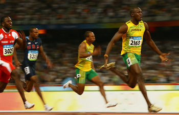 Bolt captures gold in the 100m  August 16, 2008