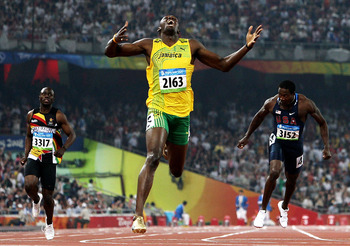 Usain Bolt wins gold in the 200 m  August 20, 2008