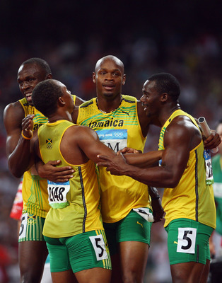The Jamaican Team wins Gold Aug 22, 2008