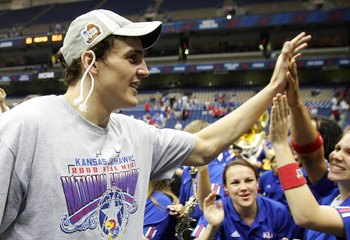 Kaun won a national championship with Kansas in 2008, and now he hopes to bring home a gold medal for Russia.