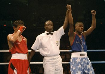 Floyd Mayweather at the '96 Olympics in Atlanta.