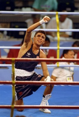 Oscar De La Hoya at the '92 Olympics in Barcelona.